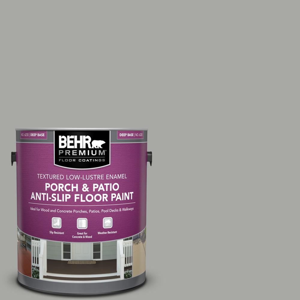 1 gal. #PFC-68 Silver Gray Textured Low-Lustre Enamel Interior/Exterior Porch and Patio Anti-Slip Floor Paint