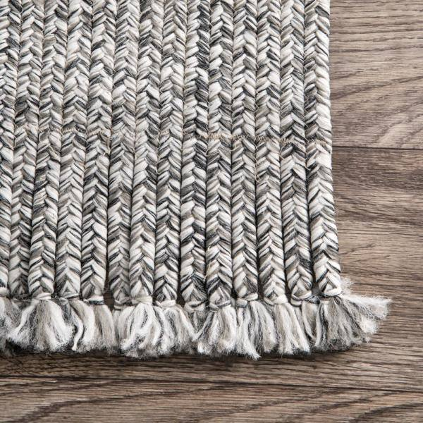 Nuloom Courtney Braided Black And White 12 Ft X 15 Ft Indoor Outdoor Area Rug Hjfv11a 12015 The Home Depot