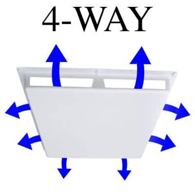 Commercial 4-Way Air Deflector Cover for 24 in. x 24 in. Diffuser