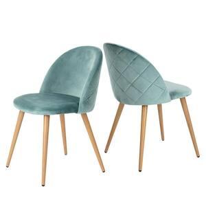Zomba Green Velvet Dining Chair (Set of 2)