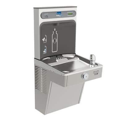 Filtered EZH2O Bottle Filling Station with Single Green Vandal-Resistant Cooler