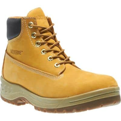 Men's 6 in. Work Boot - Soft Toe - Gold Boot Leather 11.5 M