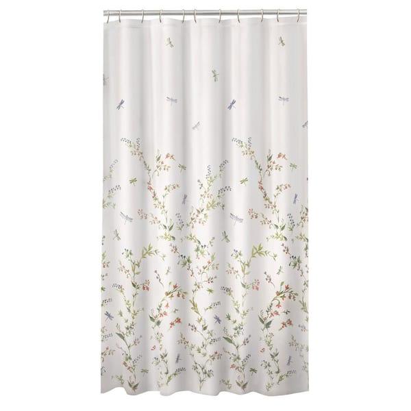 "Colorful Painted Graffiti Dragonfly Fabric Shower Curtain Set Bathroom Decor 72/"""