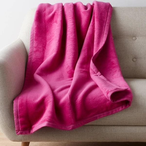 The Company Store Cotton Fleece Brown Woven Throw Blanket Ko18 Thrw Suede The Home Depot