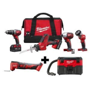 M18 18-Volt Lithium-Ion Cordless Combo Tool Kit (4-Tool) w/ Oscillating Multi-Tool and Wet/Dry Vacuum