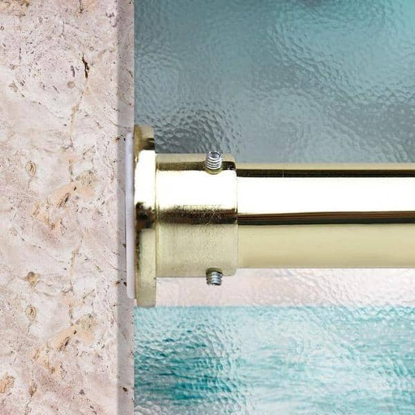 150 In Tension Curtain Rod Gold, Tension Curtain Rods 120 Inches