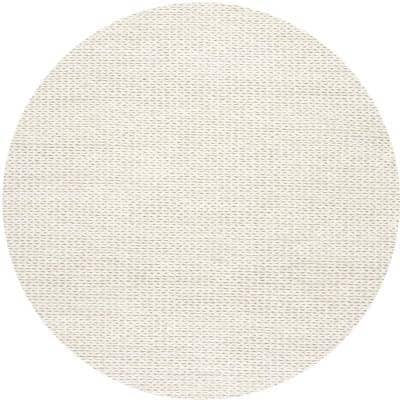 Caryatid Chunky Woolen Cable Off-White 4 ft. Round Rug