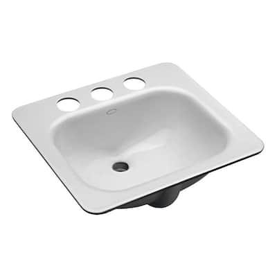 Tahoe Undermount Cast Iron Bathroom Sink in White