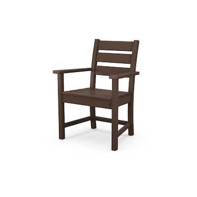 Grant Park Mahogany Stationary Plastic Outdoor Dining Chair