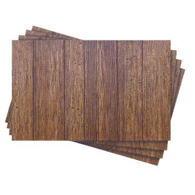 42.67 total sq. ft. 1/4 in. x 32 in. x 48 in. Akita Cedar Wainscot Embossed Hardboard Panel (4-Pack)