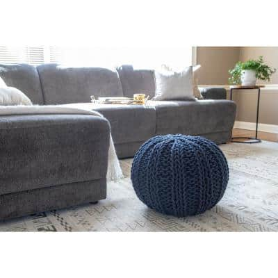 Garcia Navy Blue Knit Pouf