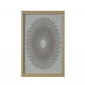 Mariana Stunning Brown Wood and Glass Shadow Box