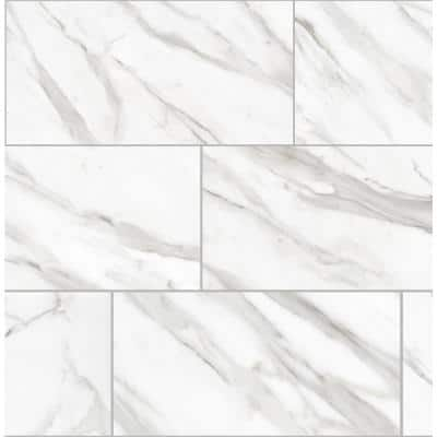 Avante Bianco White 12 in. x 24 in. Matte Porcelain Floor and Wall Tile (13.3 sq. ft./case)