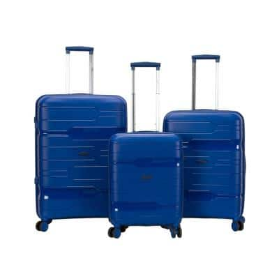 Linear 3-Piece Navy Hardside Spinner Luggage Set