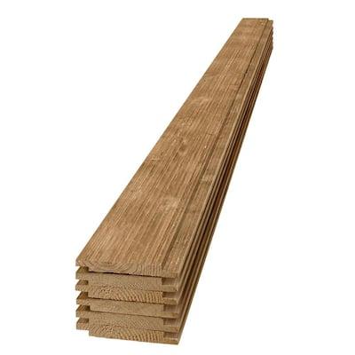1 in. x 6 in. x 8 ft. Barn Wood Light Brown Shiplap Pine Board (6-Pack)