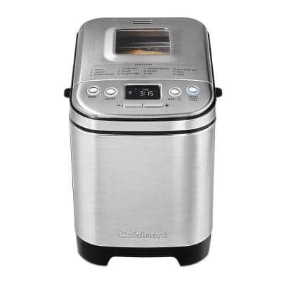 Automatic 2 lbs. Brushed Stainless Steel Bread Maker with Gluten-Free Setting