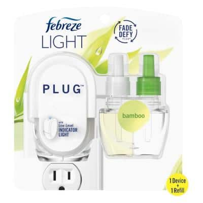 Plug Light 0.87 oz. Bamboo Scent Scented Oil Refill And Oil Plug-In Air Freshener