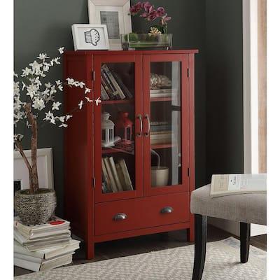Olivia Red Storage Pantry