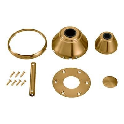 "Maverick Ceiling Fan Burnished Brass Custom Finish Canopy and Trim Hardware Kit for Maverick 52"", 60"" or 70"" Sizes"