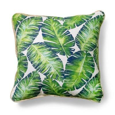 20 in. x 20 in. Rainforest Palm Outdoor Throw Pillow