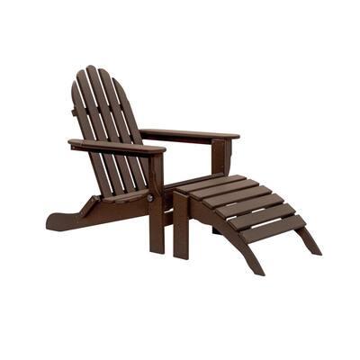 Icon Chocolate 2-Piece Folding Recycled Plastic Adirondack Chair