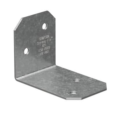 2 in. x 1-1/2 in. x 1-3/8 in. Galvanized Angle