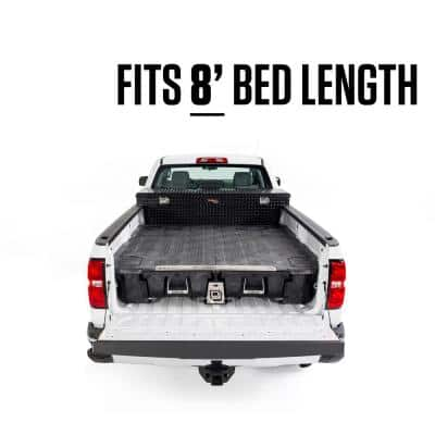 8 ft. Bed Length Pick Up Truck Storage System for GM Sierra or Silverado 8 Foot 2500 & 3500 (2020-current)