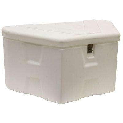 18 in. x 19 in. x 36 in. White Plastic Trailer Tongue Truck Tool Box