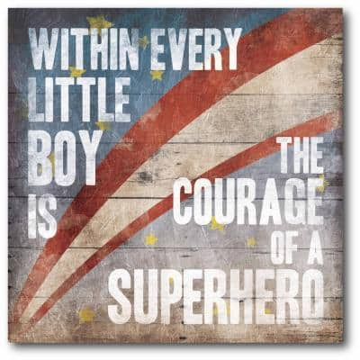 """16 in. x 16 in. """"Superhero"""" Gallery Wrapped Canvas Printed Wall Art"""