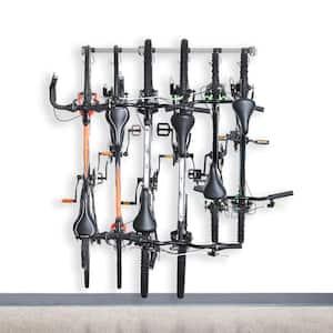 Gray 6-Bike Wall Mounted Garage Bike Rack