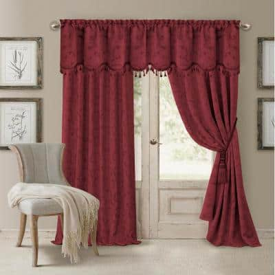 Rouge Jacquard Blackout Curtain - 52 in. W x 95 in. L