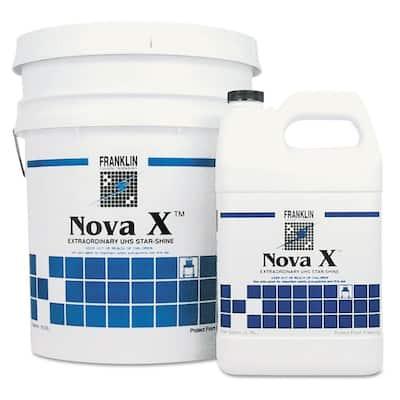 Nova X Extraordinary UHS Star-Shine Floor Finish, Non-Carpet Cleaner, Liquid, 1 Gal. Bottle, (4/Carton)