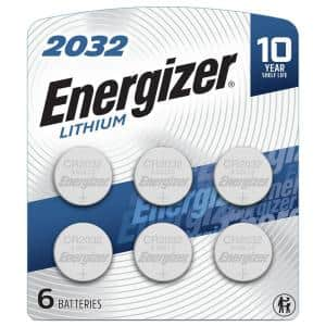 Energizer 2032 Lithium Coin Battery, 6 Pack