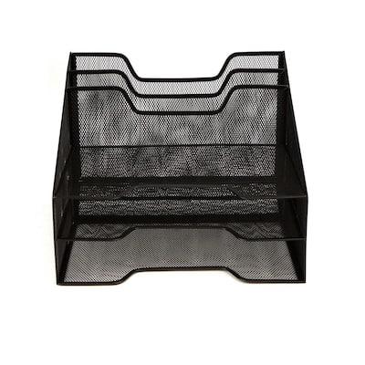5-Compartment Mesh Desk Storage Organizer, Black
