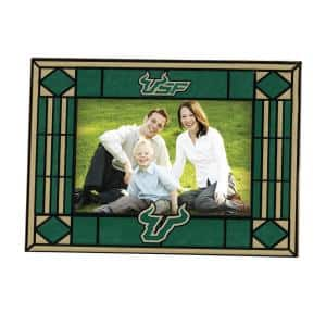 NCAA 4 in. x 6 in. Gloss Multicolor Art Glass South Florida Picture Frame