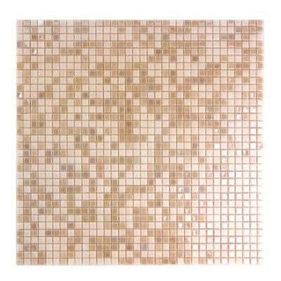 Galaxy Mars Pink Square Mosaic 0.3125 in. x 0.3125 in. Iridescent Glass Wall Tile (0.98 Sq. ft.)