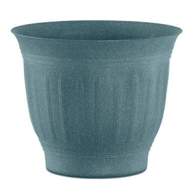 Colonnade 12 in. Forest Green Wood Resin Plastic Planter