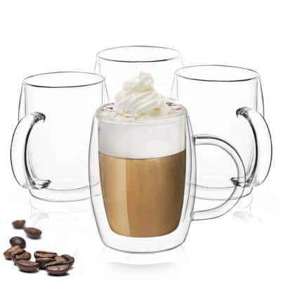 Aroma 13.5 oz Double Wall Insulated Glasses, Set of 4