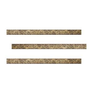 Golden 1 in. x 18 in. Ceramic Decorative Listello Wall Tile (3-Pack)