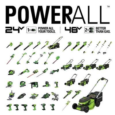 90 MPH 320 CFM 24-Volt Battery Cordless Handheld Leaf Blower (Tool-Only)