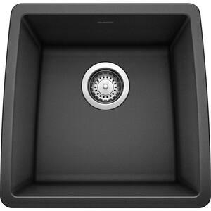 PERFORMA SILGRANIT Black Granite Composite 18 in. Undermount Bar Sink