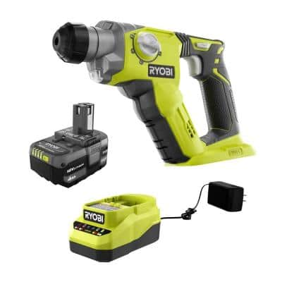 ONE+ 18V Cordless 1/2 in. SDS-Plus Rotary Hammer Kit with (1) 4.0 Ah Battery and Charger