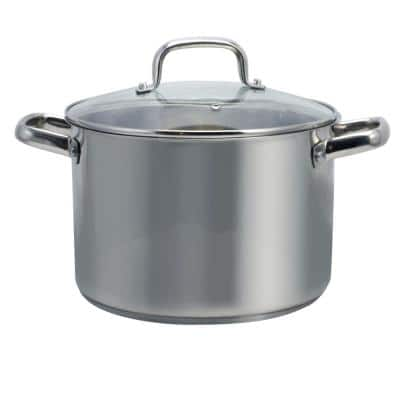 Adenmore 8 qt. Stainless Steel Stock Pot with Glass Lid