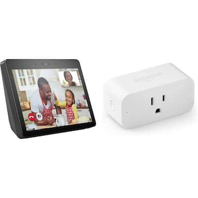 Echo Show Plus Smart Plug in Charcoal (Gen 2)