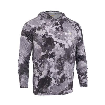 Men's Large Veil Tac Gray Performance Long Sleeved Hoodie Shirt