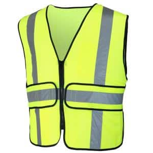 Hi-Visibility Lime Green Class 2 Reflective Adjustable Safety Vest