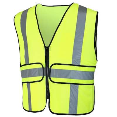 High-Visibility Reflective Adjustable Safety Vest