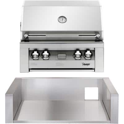 30 in. Built-In Natural Gas Grill in Stainless with Insulated Jacket