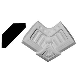 5-1/8 in. x 5-1/8 in. x 5-1/8 in. Urethane Smith Inside Corner for Moulding Profiles