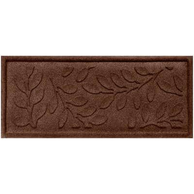 Brittany Leaf 15 in. x 36 in.Boot Tray  Dark Brown
